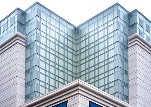 Corner of Lego Building Being Blue