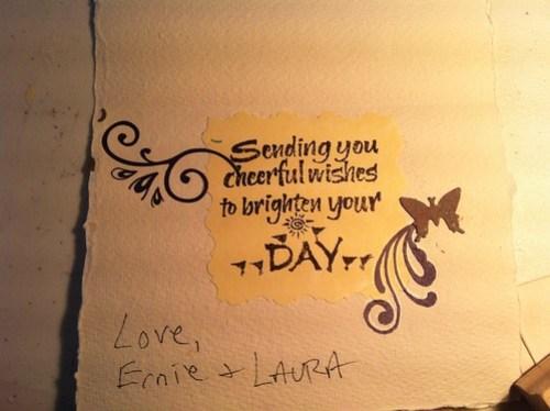 Inside Earl's card