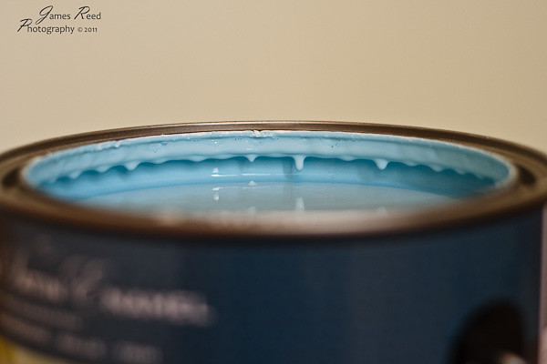 A fresh can of Robin's Egg blue.