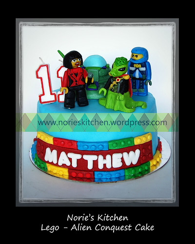 Norie's Kitchen - Lego - Alien Conquest Cake by Norie's Kitchen