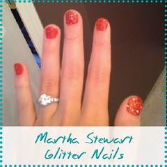 martha stewart glitter nails