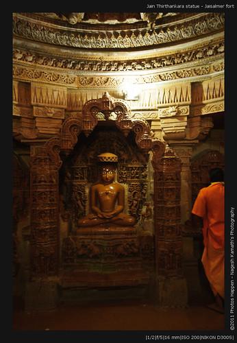 Jain Thirthankara statue - Jaisalmer fort
