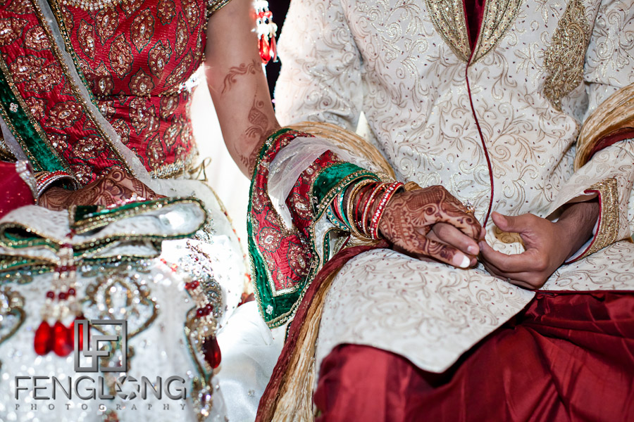 Bride Holding Groom's Hand | Shamz & Sana's Wedding Day 3 | Zyka Indian Banquet Hall Decatur | Atlanta Indian Photographer