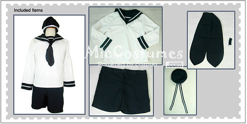 Axis Powers Hetalia Sealand Cosplay Costume_1