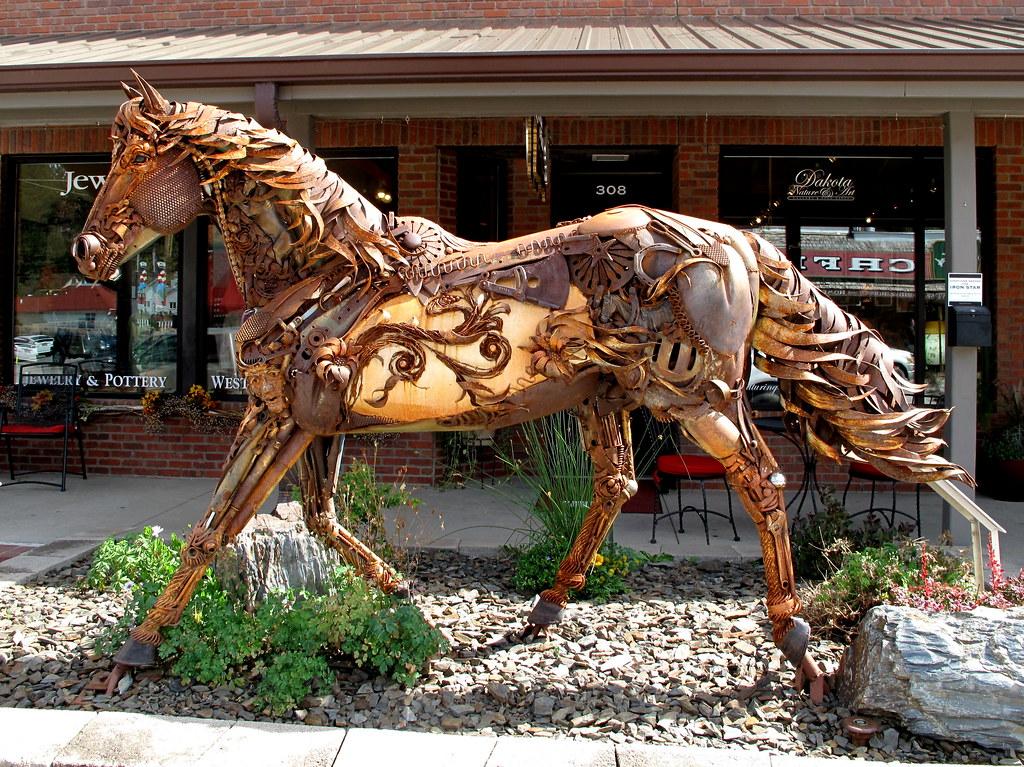 scrap iron horse