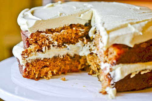 Pumpkin Spice Cake with Cream Cheese Frosting 7