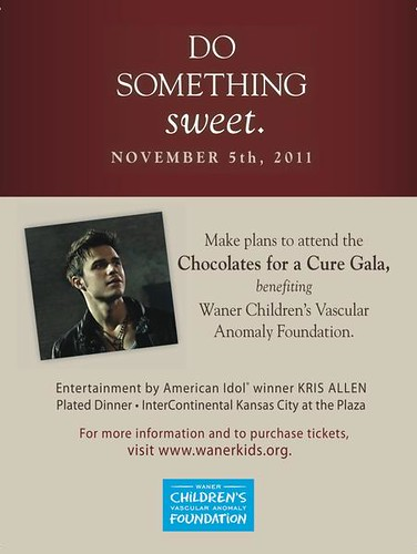Kris Allen to perform at 3rd Annual Chocolates for a Cure charity event in Kansas City, MO