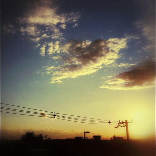 夕暮れ時は、なんかもの悲しいね…。 #sunset #iphonography #instagram