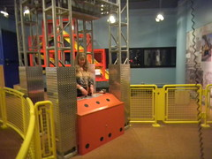 Laura controls the crane