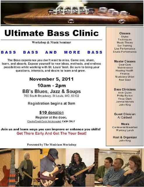 Bass Clinic 11-5-11