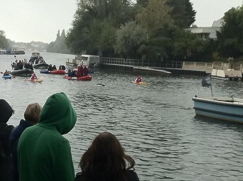 David Walliams Thames Swim  - Ravens Ait