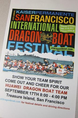 Huawei Dragon Boat Race Poster