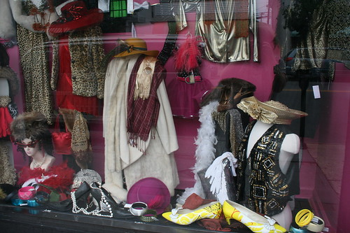 Consignment shop window in OC