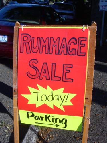 Rummage sale today!