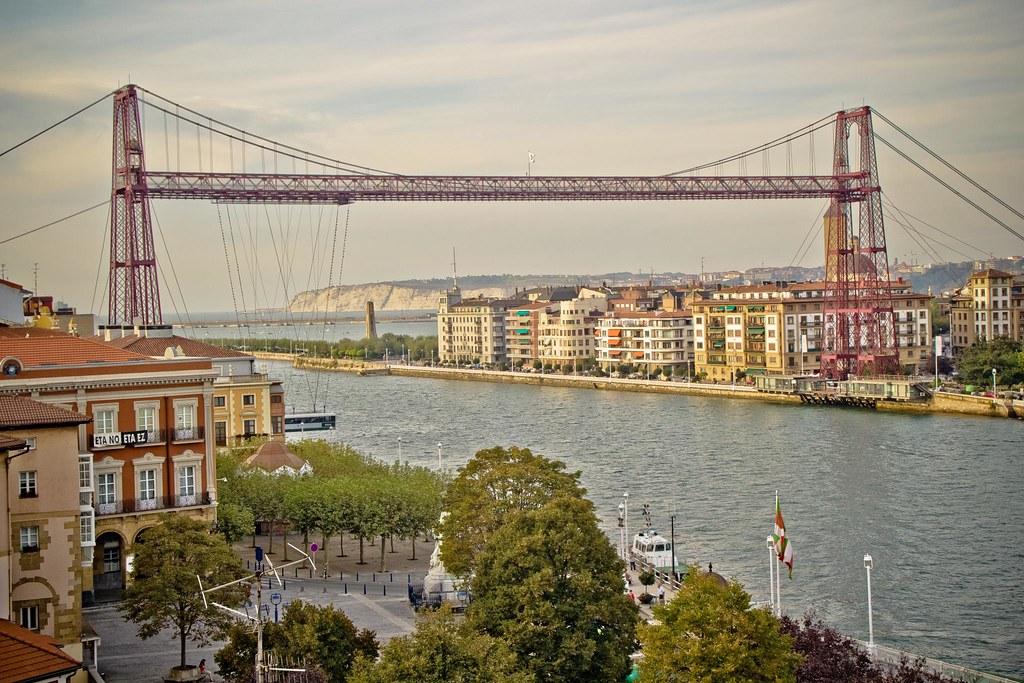 Puente Colgante visto desde Portugalete