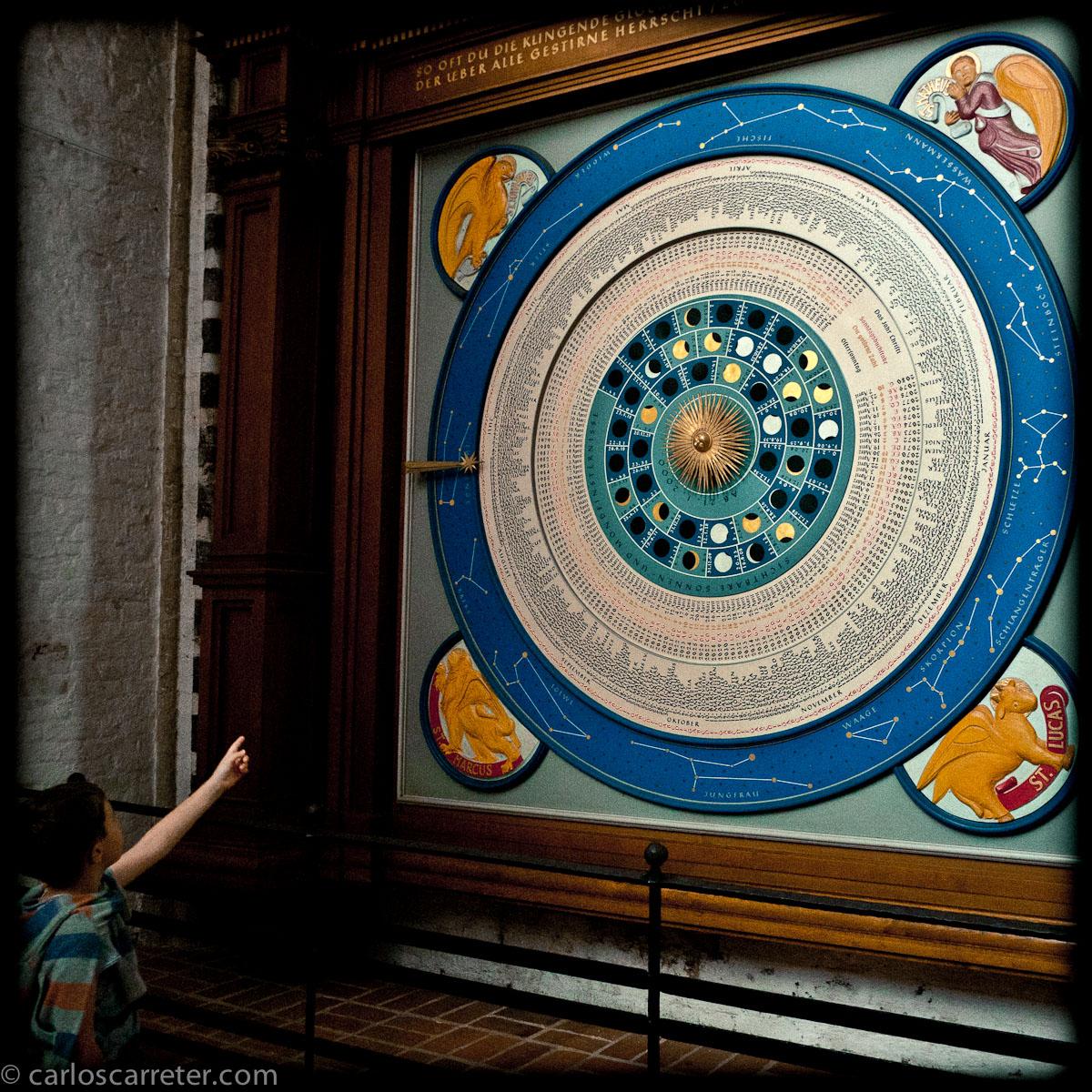 Reloj astronómico en la Marienkirche