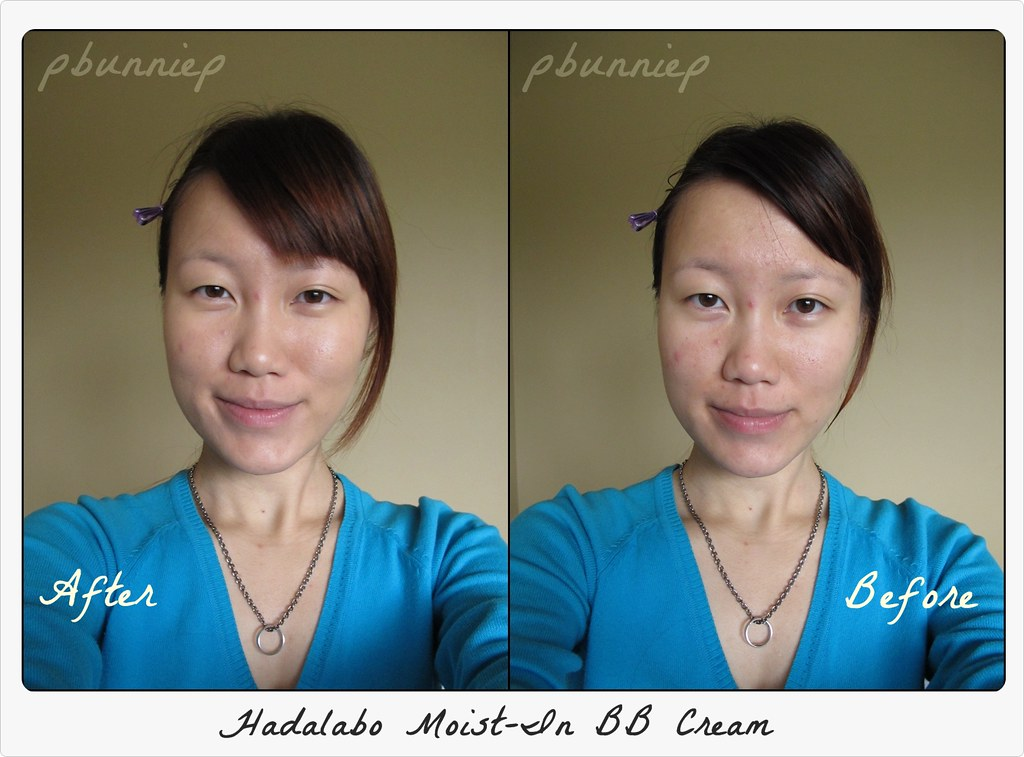 HADALABO BB Cream Before-After