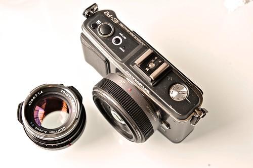 Voigtlander 40mm f1.4, Panasonic 20mm f1.7 on an Olympus E-P2