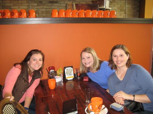 blogger breakfast-Jessica, me, Karis