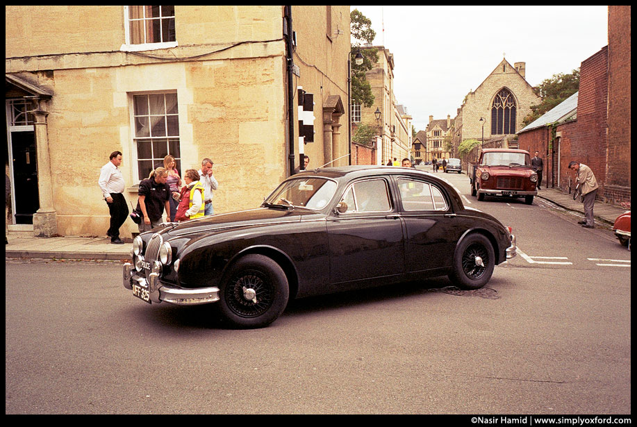 Vintage Jaguar car.