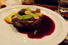 Elk Shank with Beet & Polenta