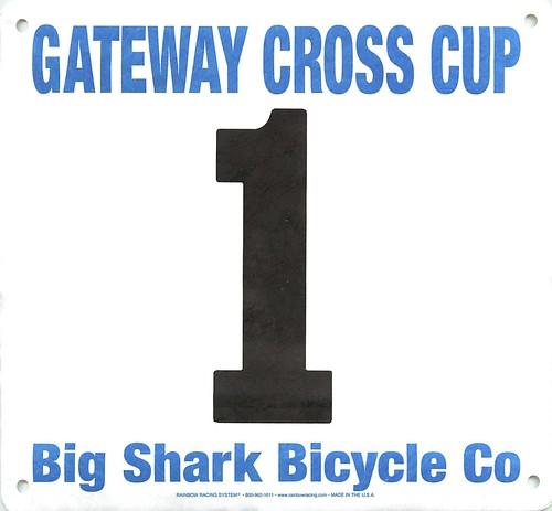Gateway Cross Cup 5K run bib