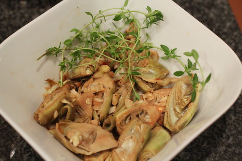 bowl of artichokes