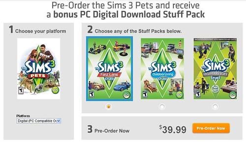 Origin Super Bonus for  Pre-Ordering Pets