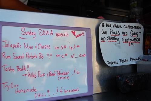 Sunday SOWA specials