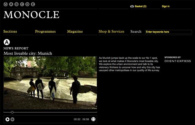 Munich is Moncole Magazine's Most Liveable City of 2010