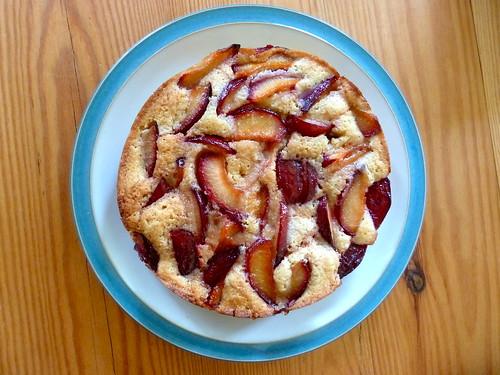 Caramelised plum cake