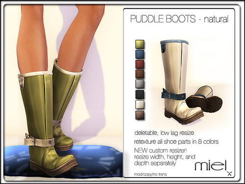 Puddle Boots Naturla by Miel @ The Deck
