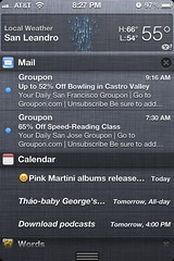 iOS 5 notifications center