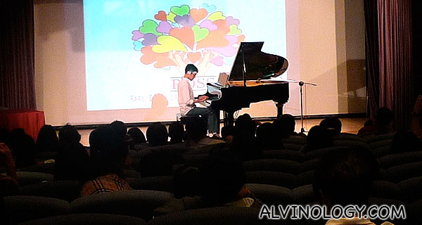 One of the students from John Monteiro music school