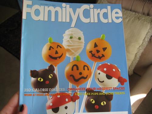 Family Circle halloween cake pops