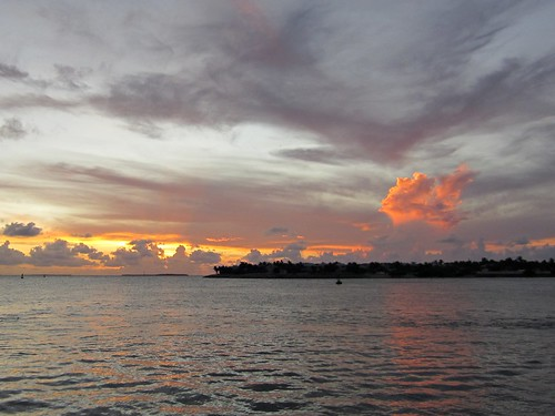 awesome clouds at sunset in key west