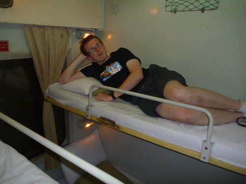 Col in sleeper train from Hanoi to Hue