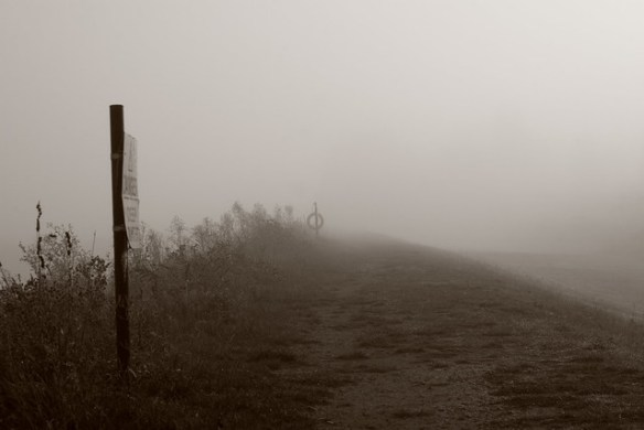 Misty footpath