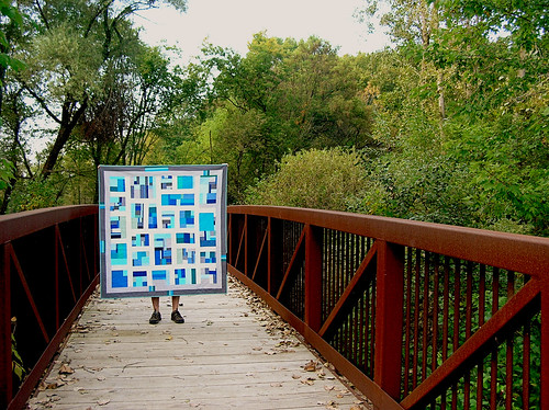 Banff quilt on the bridge