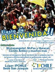 Bienvenida Alumnos Nuevos San Joaquín 2011