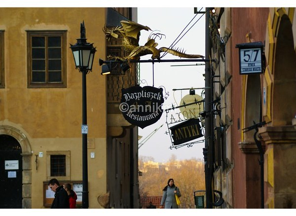 Restaurants in the old town of Warsaw