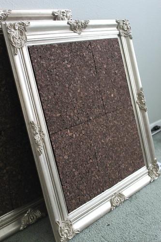 DIY Bulletin Board using Cork Tiles