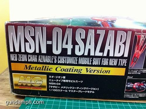 MG Sazabi Metallic Coating (Titanium-Like Finish) (3)