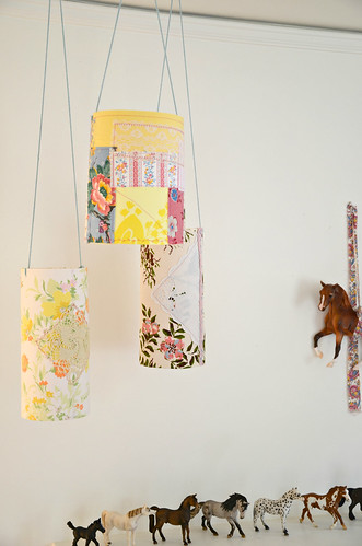 Pretty Patchy Paper lanterns by Lola Nova