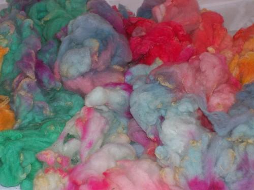 Dyed Wool Locks