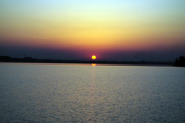Sunset over Lacul Morii