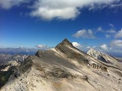 Ausblick Heiligkreuzkofel auf die Zehnerspitze 3.025m