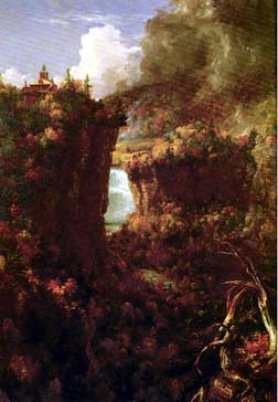 Thomas Cole - Portage Falls and Hornby Lodge, 1841