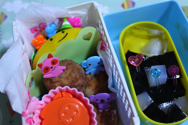 Jamie Oliver's Salmon Fish Ball Bento for her