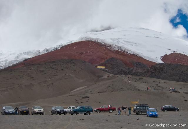 Parking lot at Cotopaxi Volcano